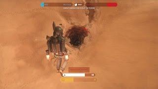 getlinkyoutube.com-BOBA FETT vs SARLACC PIT in Star Wars: Battlefront