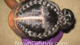 getlinkyoutube.com-Easy Cornrow Hairstyle Tutorial