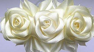 getlinkyoutube.com-Как сделать розу из лент