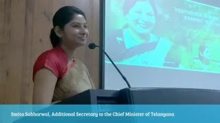 getlinkyoutube.com-Smita Sabharwal, IAS Officer's Talk on International Women's Day Celebrations