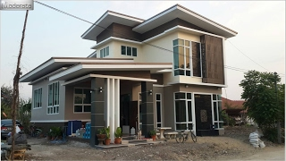 getlinkyoutube.com-แบบบ้านโมเดิร์น Banpatan Moderate MD08 นนทบุรี