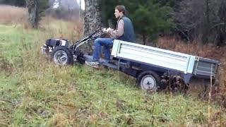 getlinkyoutube.com-Grillo G107 & PTO-driven trailer, driving in field