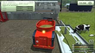 getlinkyoutube.com-Farming simulator 2013-Alimentazione mucche con insilato,carro miscelatore e paglia.mp4