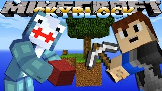 getlinkyoutube.com-Minecraft Games - Sharky & Scuba Steve - BUILDING OUR SKYBLOCK HOUSE!!