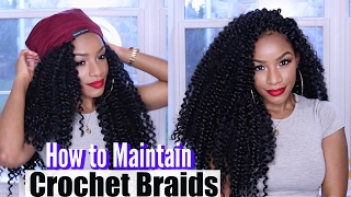 getlinkyoutube.com-MY CROCHET BRAIDS ROUTINE | 4 Tips on How to Maintain Crochet Braids