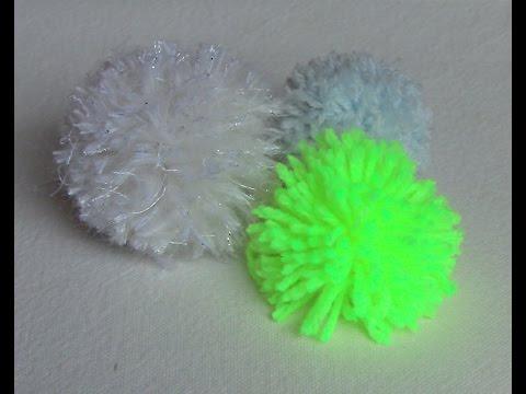 como fazer pompom em lã ou Linhas Passo a Passo