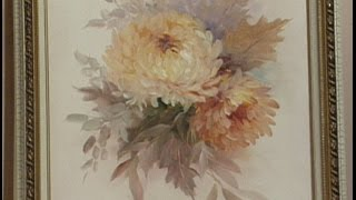 "getlinkyoutube.com-The Beauty of Oil Painting, Series 1, Episode 7 ""Chrysanthemums"""