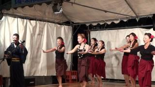 getlinkyoutube.com-奄美歌謡「島のブルース」cover  習志野ビューティーズ with 珍念