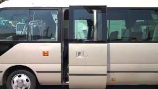 getlinkyoutube.com-中古トラック 平成22年式 トヨタ コースター ロング EX N04C エンジンとドア作動