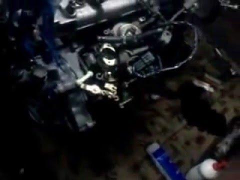 Установка контрактного двигателя 4м40 с Mitsubishi Delica на Mitsubishi Pajero