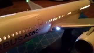 getlinkyoutube.com-Revell A350 with LED lights