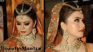 getlinkyoutube.com-Wedding Makeup - Black And Orange Smokey Eyes - Complete Hair And Makeup