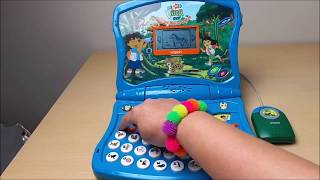getlinkyoutube.com-Nick Jr Go Diego Go Preschool Learning English Laptop Review By ToyBroadway
