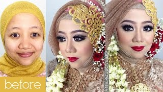 getlinkyoutube.com-Tutorial Makeup Wedding Muslim By IniVindy + Simpel Hijab Tutorial
