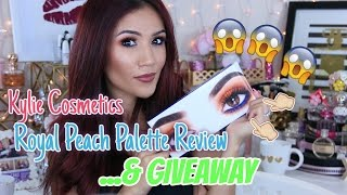 Kylie Cosmetics Royal Peach Palette Review & GIVEAWAY