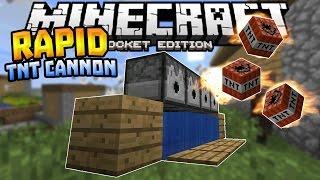 getlinkyoutube.com-RAPID FIRE TNT CANNON in MCPE!!! - 0.16.0 Redstone Creation - Minecraft PE (Pocket Edition)