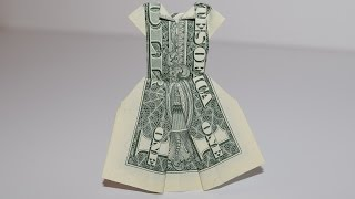getlinkyoutube.com-Dollar Origami: Dress | 1Dollar | Easy tutorials and how to's for everyone #Urbanskills