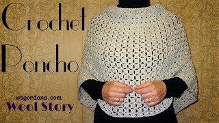 getlinkyoutube.com-Easy DIY Crochet Poncho (Heklani Pončo)