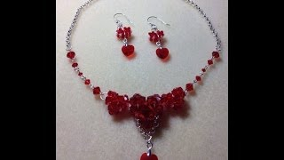 getlinkyoutube.com-(Tutorial) Sweet Love Hearts Necklace & Earrings (Video 28)