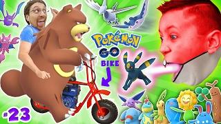 getlinkyoutube.com-GAMING on my MINI-BIKE! Father & Sons POKEMON GO Gen 2 Adventure w/ Little Hack Cheaters! FGTEEV #23