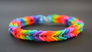 DIY   How To Make Rainbow Loom Bracelet With Your Fingers   EASY TUTORIAL