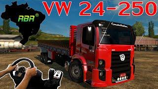 getlinkyoutube.com-VW 24-250 CARREGADO DE TINTAS - ETS2 VERSÃO 1.21 - MAPA RBR -  VOLANTE G27!!!