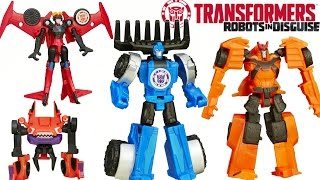 getlinkyoutube.com-NEW WAVE 6 TRANSFORMERS ROBOTS IN DISGUISE LEGION CLASS CLAMPDOWN WINDBLADE DRIFT THUNDERHOOF