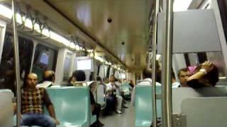mitfahrt Istanbul Metro Linie M2 von Sisli bis 4. Levent