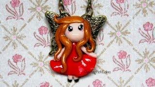 getlinkyoutube.com-DIY Butterfly Fairy Necklace {Stop Motion Tutorial} Polymer Clay Chibi