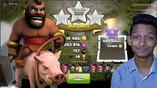 How to Hog attack at th 7 with just LEVEL 1 Hogs