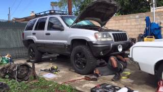 getlinkyoutube.com-Jeep WJ rough country long arm install time lapse