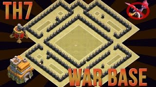 getlinkyoutube.com-Clash Of Clans - TH7 CLAN WAR BASE - ANTI DRAGON - WITH NEW AIR SWEEPER