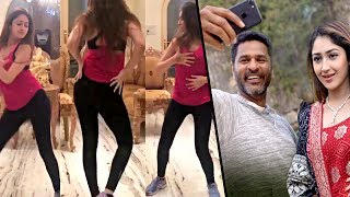 Prabhu Deva & Sayesha Saigal dance practice for 'DAMN DAMN' song | Vanamagan Heroine Hot News
