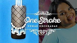 getlinkyoutube.com-ONE STROKE: Unhas Decoradas com Babados | Cola na villar