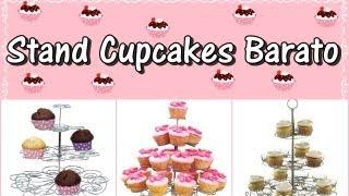 getlinkyoutube.com-Stand para Cupcakes Barato