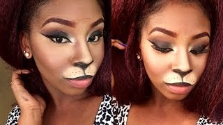 getlinkyoutube.com-Cat Costume Makeup Tutorial | Halloween 2015