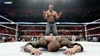 getlinkyoutube.com-Extreme Rules 2009: John Cena battles Batista in a Last Man Standing Match