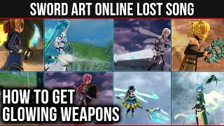 How To Find Glowing Weapons in SAO: Lost Song