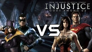 getlinkyoutube.com-Injustice Gods Among Us - Classic Vs New 52 couples with Lore & Skins