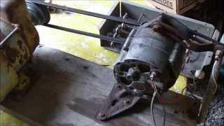 getlinkyoutube.com-Alternator Demo, self energize, generator, arc welder