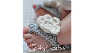 getlinkyoutube.com-CROCHET TUTORIAL- BABY SANDALS