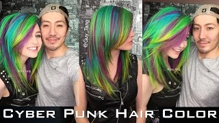 getlinkyoutube.com-Cyber Punk Hair Color