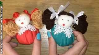 getlinkyoutube.com-Куколки своими руками / Поделки из ткани
