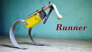 getlinkyoutube.com-How to make a simple running / hopping robot  - DIY Robot