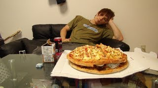 getlinkyoutube.com-12000kcalのピザバーガー作ってみた!12000kcal  pizza hamburger was cook  PDS