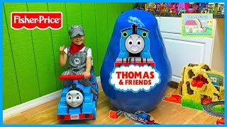 WORLD'S BIGGEST SURPRISE EGG Opening Thomas & Friends Toys Eggs Surprises Track Master Train Sets