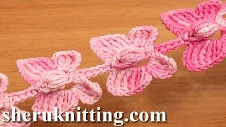 getlinkyoutube.com-Crochet Butterfly Cord Tutorial 52 Crochet Butterflies