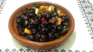 getlinkyoutube.com-طريقة تخليل الزيتون الاسود في المنزل مع صلصلة مغربية في فترة قصيرة  Olive Pickle