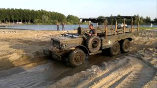 getlinkyoutube.com-Dodge wc 63 (6x6 with winch) playing in Almere Dutch