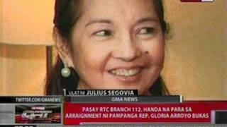 QRT:  Pasay RTC Branch 112, handa na para sa arraignment ni Rep. Gloria Arroyo bukas